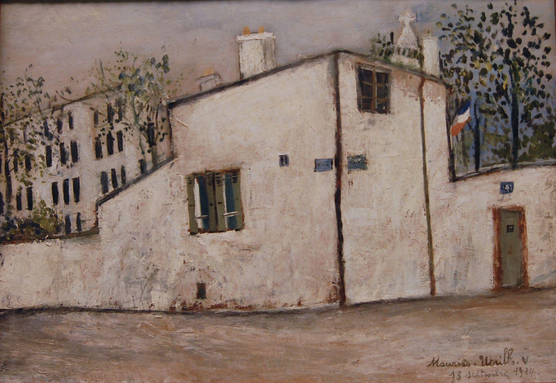Posts About Utrillo S La Maison De Berlioz On Thinkvisual S Blog Hector Berlioz Painting Building Art
