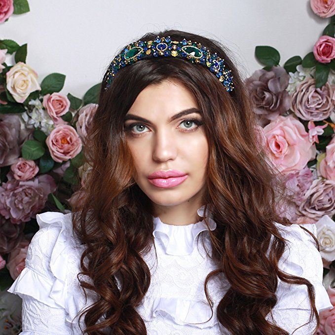 c2520307443 Crownsdream Luxury Handmade Crystal Swarovski Rhinestones Alice Hair Band  Headband Women Tiara