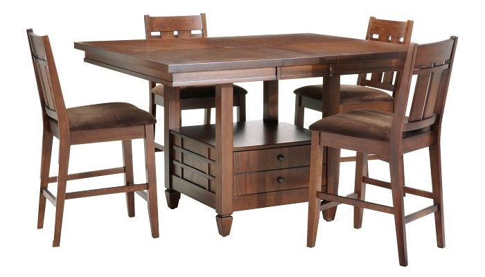 our new kitchen table and chairs from slumberland for the home rh pinterest com slumberland kitchen table sets