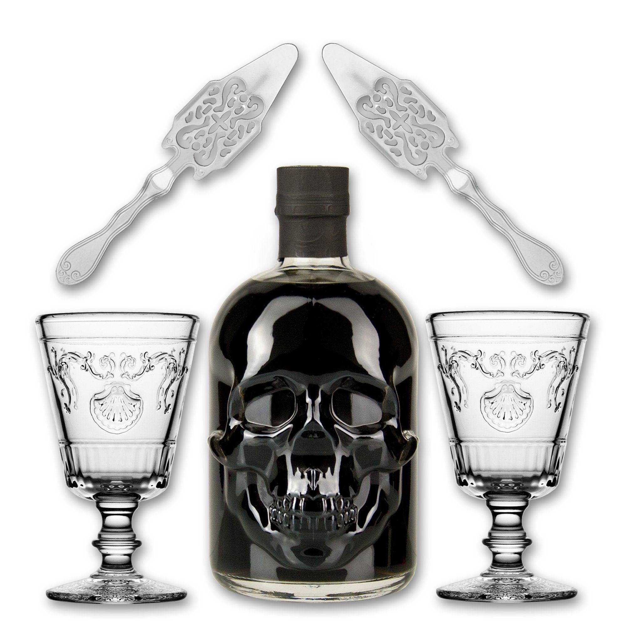 Black Head Absinthe 0,5l + 2x Absinth Glas Versailles + 2x Absinth ...