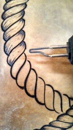 Pyrographed Rope