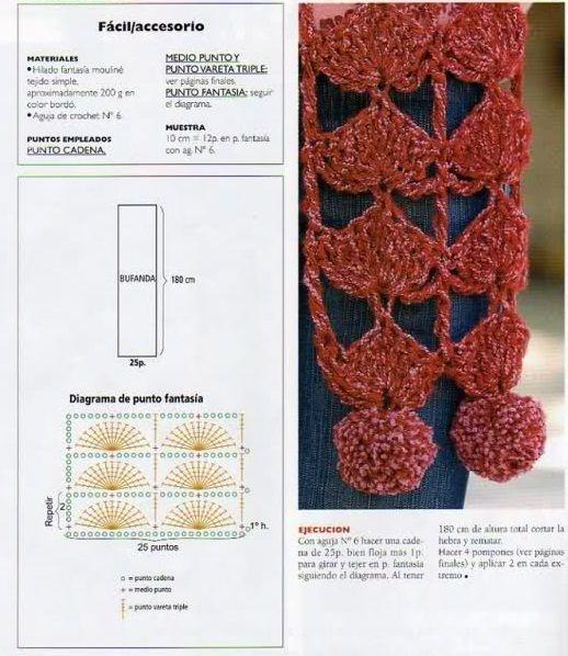 bufanda http://patronesparacrochet.blogspot.com.ar/2013/11/2 ...