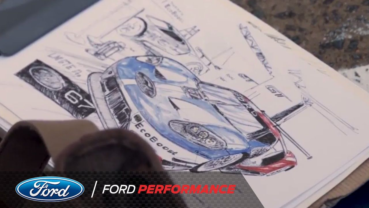 24 Hours Of Le Mans 2017 Ford Gt An Artist S Inspiration Le Mans Ford Performance Youtube With Images Ford Gt Artist Inspiration Man