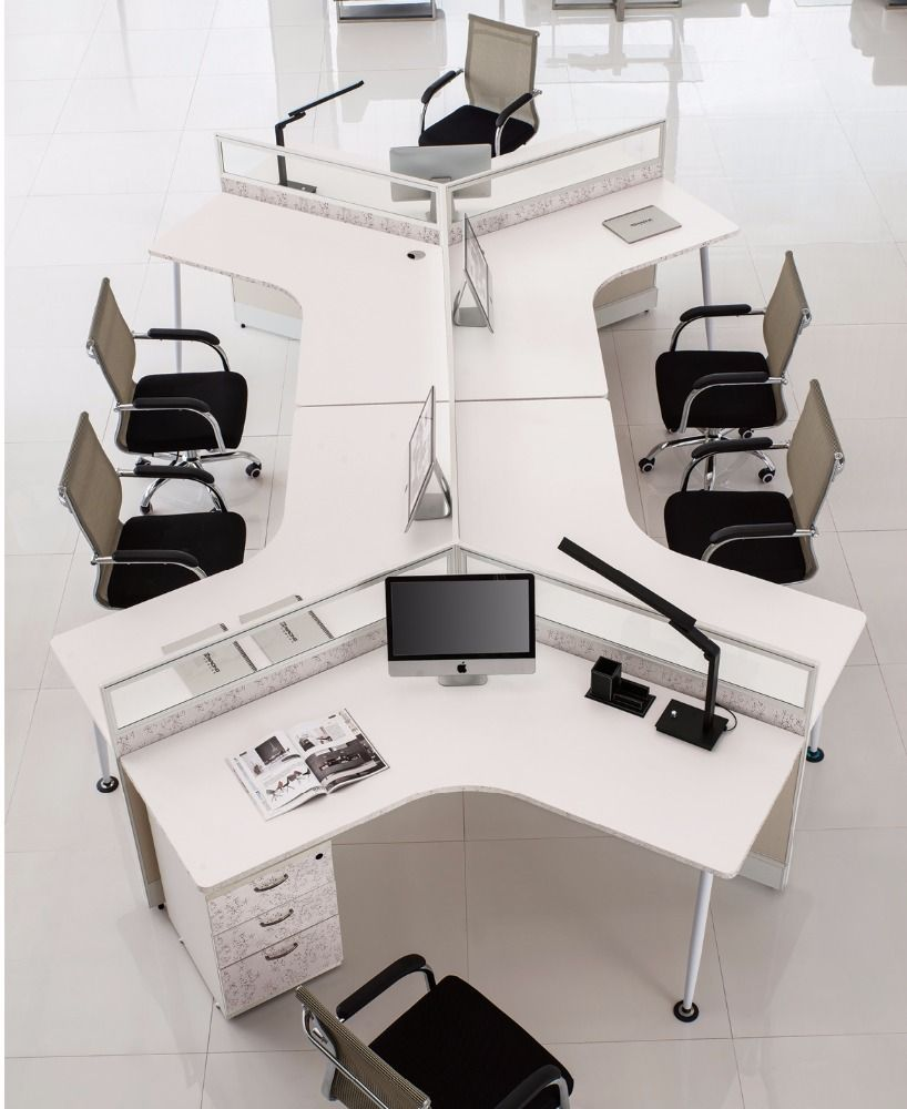 120 Degree Office Workstation Office Desk Designs Office Furniture Design Modern Office Interiors