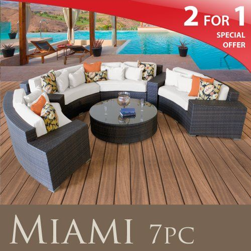(CLICK IMAGE TWICE FOR UPDATED PRICING AND INFO) #home #patio #sofa #outdoor #outdoorsofa #patiosofa #patiosofaset #loungesets #outdoorpatiosofasets  see more patio sofa at http://zpatiofurniture.com/category/patio-furniture-categories/patio-sofa/ - MIAMI OUTDOOR WICKER PATIO 7 PIECE SET IVORY FREE EXTRA COVER « zPatioFurniture.com
