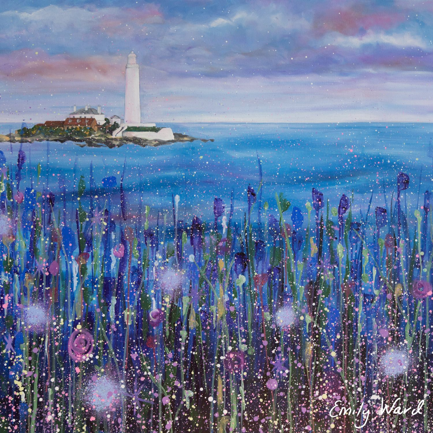 Lighthouse St Mary S Whitley Bay North East Fabric Art