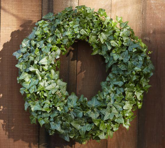 Live Ivy Wreath Pottery Barn Ivy Wreath Living Wreath Door Wreaths Diy