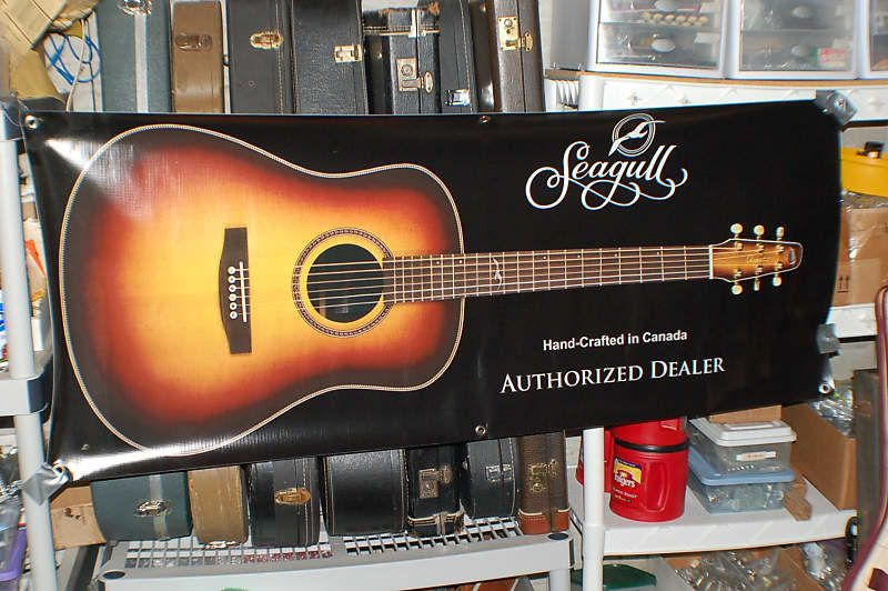 Today Lawman Guitars Is Presenting A Brand New Seagull Guitar Store Display Banner Very High Quality Flexible Display Banners Store Display Guitar Store