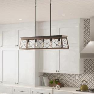 Ebern Designs Artie 3 Light Kitchen Island Pendant Wayfair Rustic Kitchen Kitchen Lighting Farmhouse Kitchen Lighting