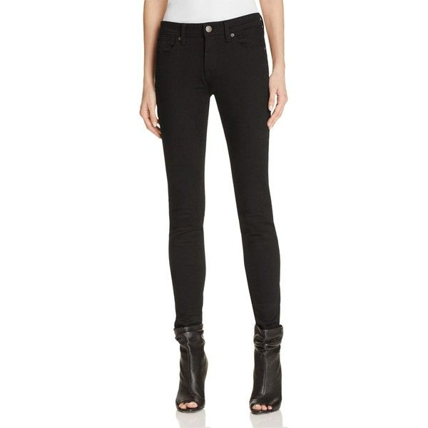 Burberry Skinny Jeans in Black ($225) ❤ liked on Polyvore featuring jeans, black, burberry, burberry jeans, cut skinny jeans, denim skinny jeans and skinny fit jeans