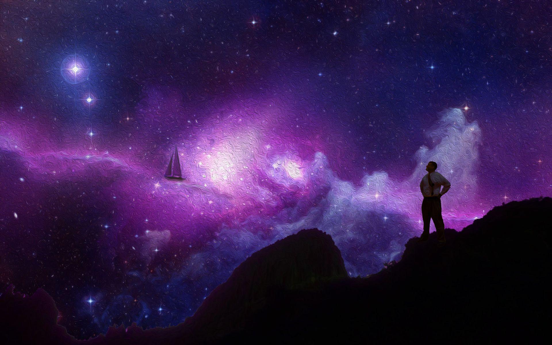 A Dream Among The Stars Aaron Blaylock Blue galaxy