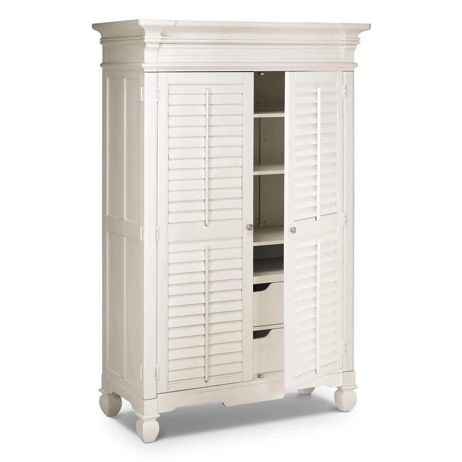 white armoire wardrobe bedroom furniture. Plantation Cove White Armoire | American Signature Furniture Wardrobe Bedroom L