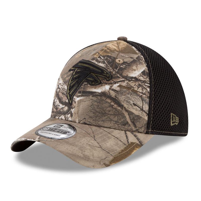new style 76c18 61b54 Atlanta Falcons New Era Neo 39THIRTY Flex Hat - Realtree Camo Black
