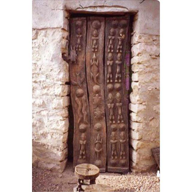 ~Dogon Door~ Beautiful carved Dogon door, Mali, Africa #beautiful #dogondoor #detail #stone #texture #mali #africa #malitribe
