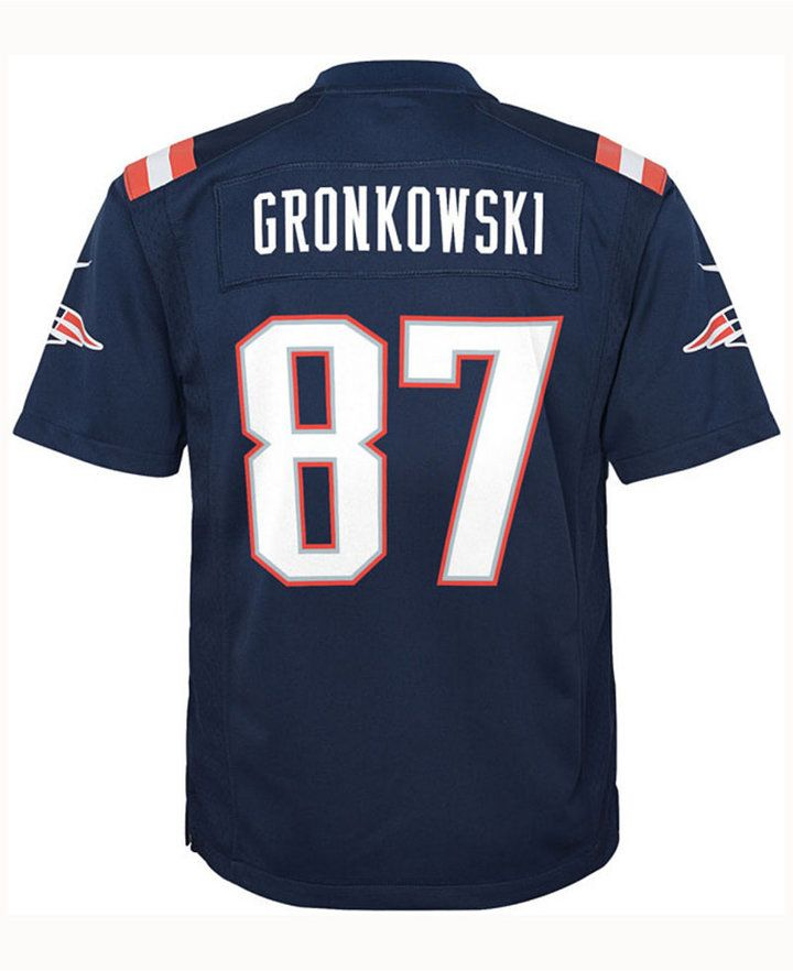 2fc093a099b Nike Rob Gronkowski New England Patriots Color Rush Jersey, Big Boys (8-20)