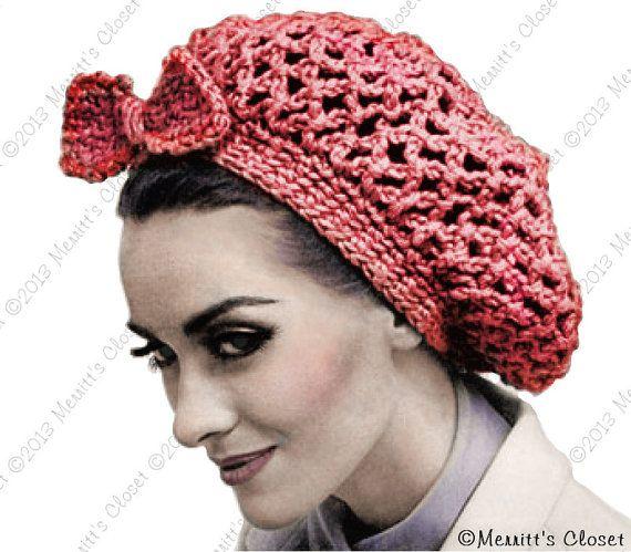 Fishnet Snood Hat, make fast and easy in heavy yarn, Vintage Crochet ...