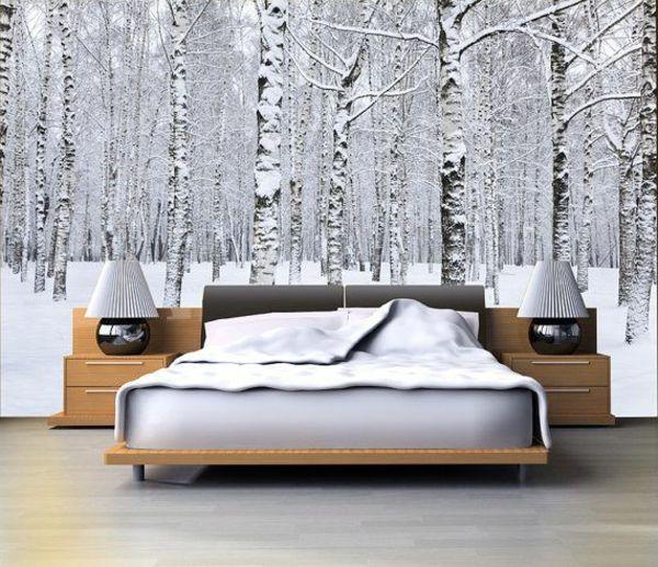 Wandbilder-Schlafzimmer-Bäumen-mit-Schnee.jpg 600×517 pixels ...