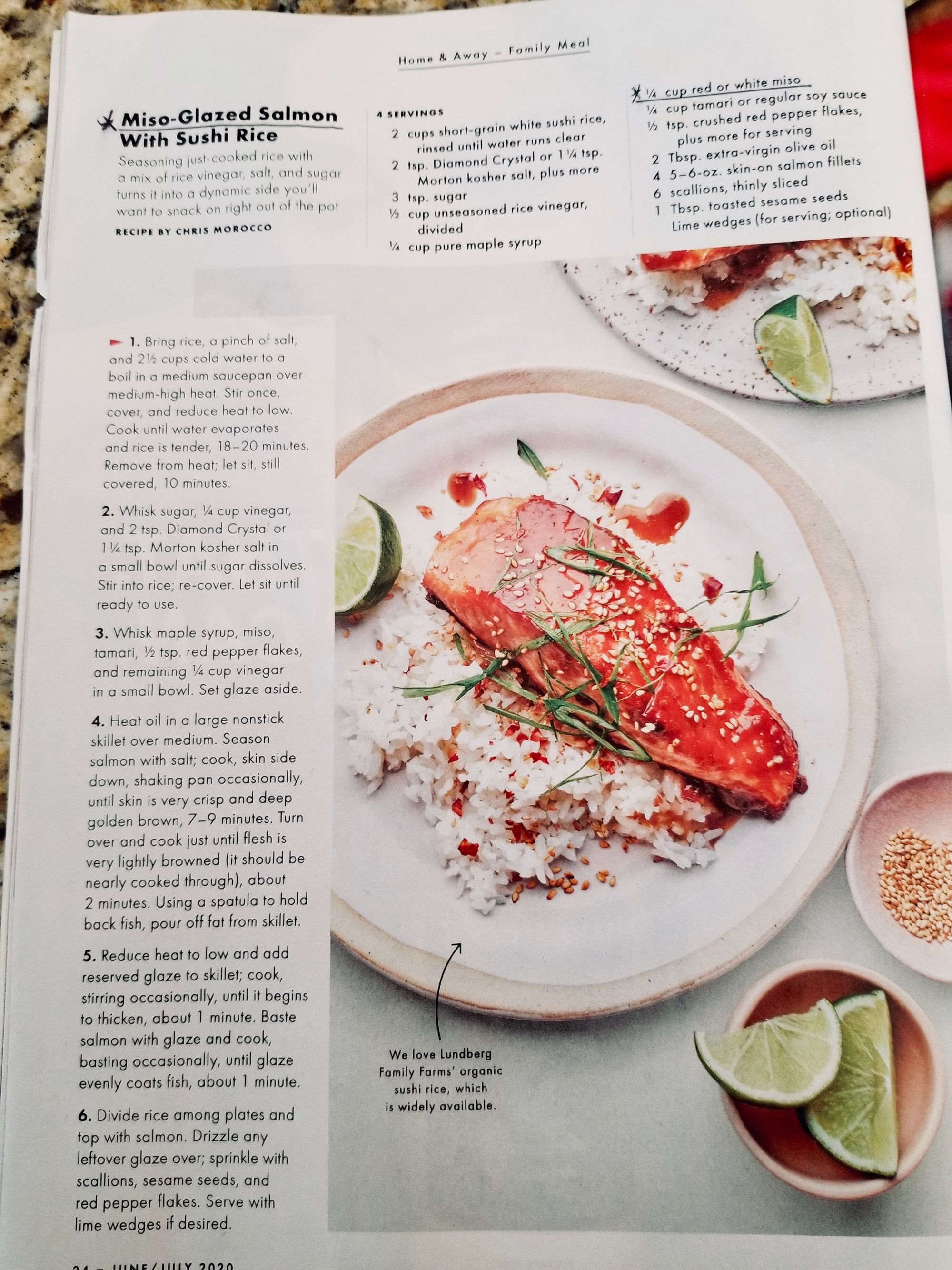 Delighted to see Miso incorporated into recipes as a simple flavor enhancer. It is truly delicious :) Find this delicious Miso-Glazed Salmon with Suchi Rice and others in the June/July Bon Appetit Magazine @bonappetitmag . . . #miso #salmon #dinerideas #dinnertime #dinner #dinnerathome #recipes #thesoyfoodscouncil