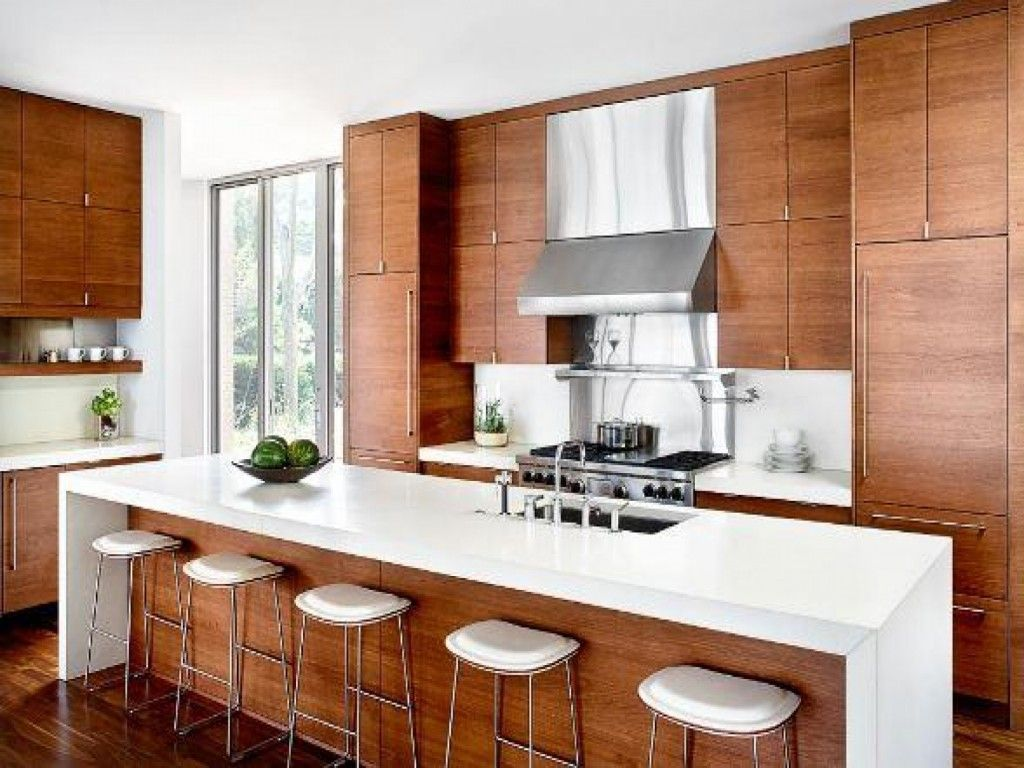 About alno modern kitchens on pinterest modern kitchen cabinets - Flat Front Walnut Cabinets With White Countertop Best Of Cottage Pinterest Walnut Cabinets Countertop And Modern