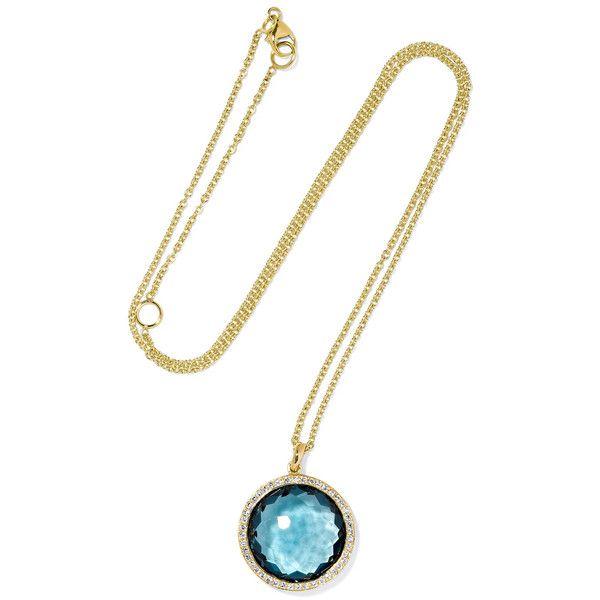 Ippolita Rock Candy Lollipop 18-karat gold, topaz and diamond necklace (149.425 RUB) via Polyvore featuring jewelry, necklaces, gold, diamond pendant jewelry, 18k necklace, rock necklaces, diamond jewelry и chain pendants