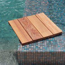 Hardwood 18 X Snap In Deck Tiles Natural