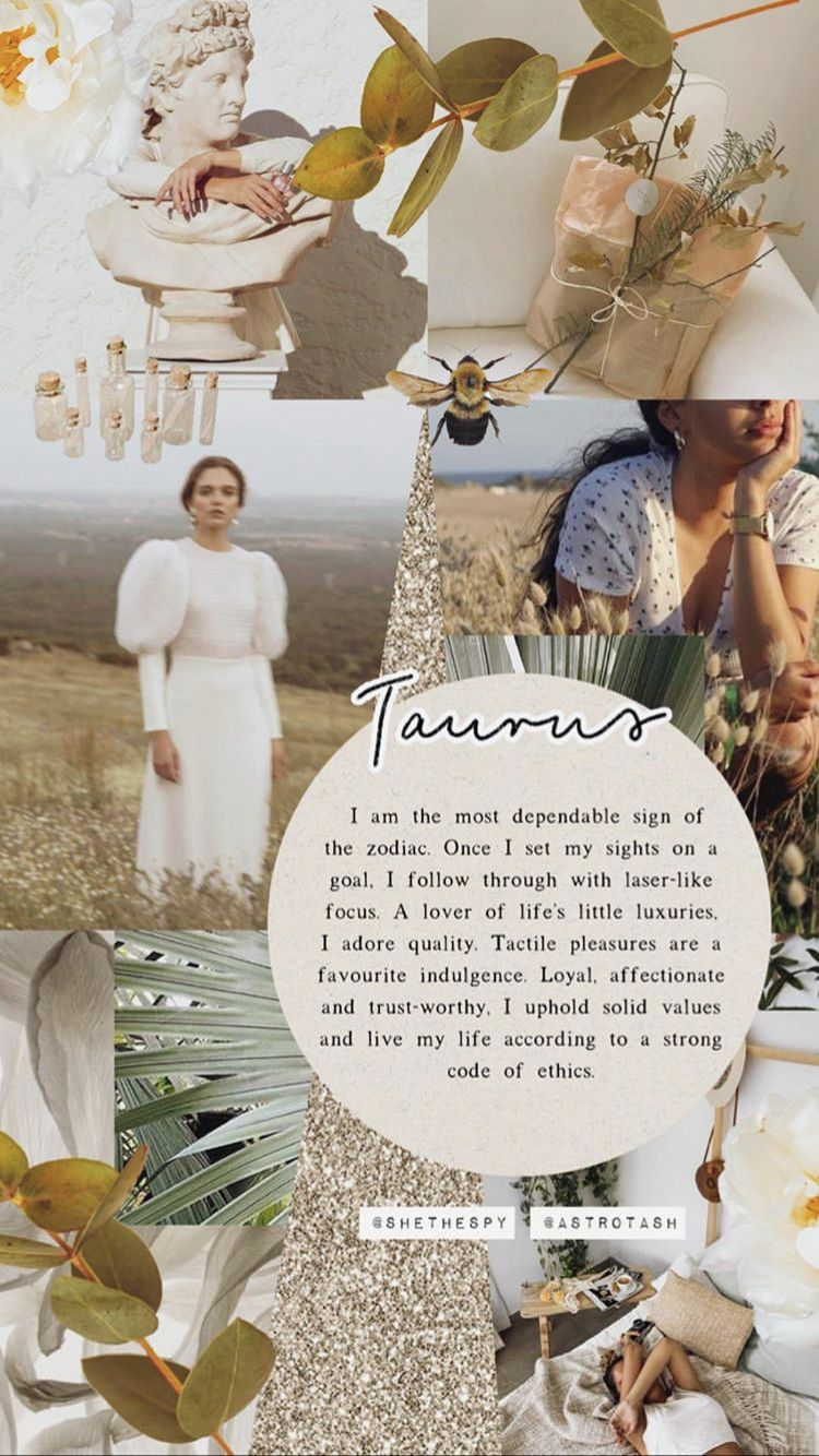 Taurus Wallpaper Taurus Wallpaper Aesthetic Collage Taurus Zodiac Facts