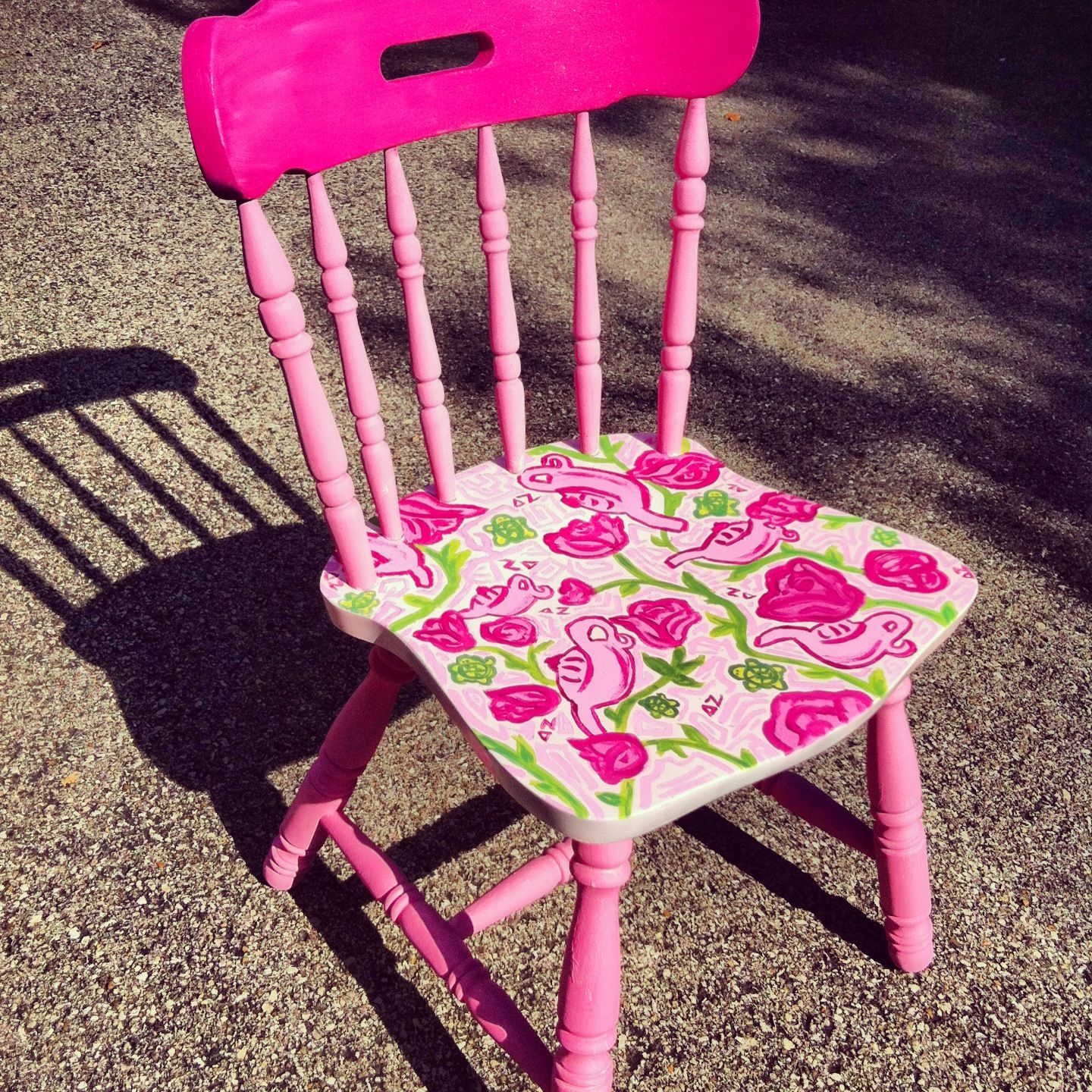lilly pulitzer chair wicker dining chairs indoor delta zeta think in little form and