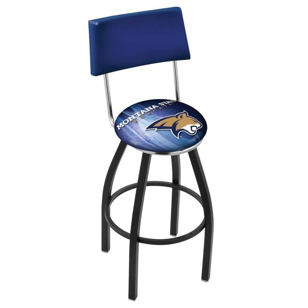Home bar design-ideen modern montana state bobcats swivel bar stool in black u chrome