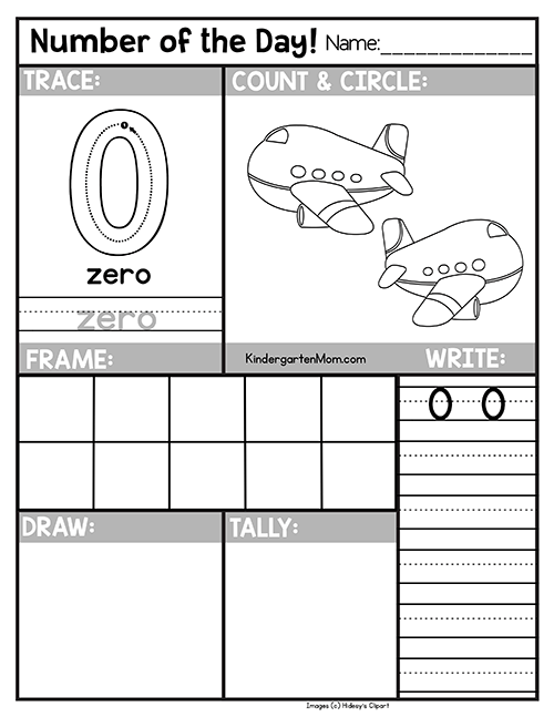 Free Number of the Day Worksheets for Preschool & Kindergarten ...