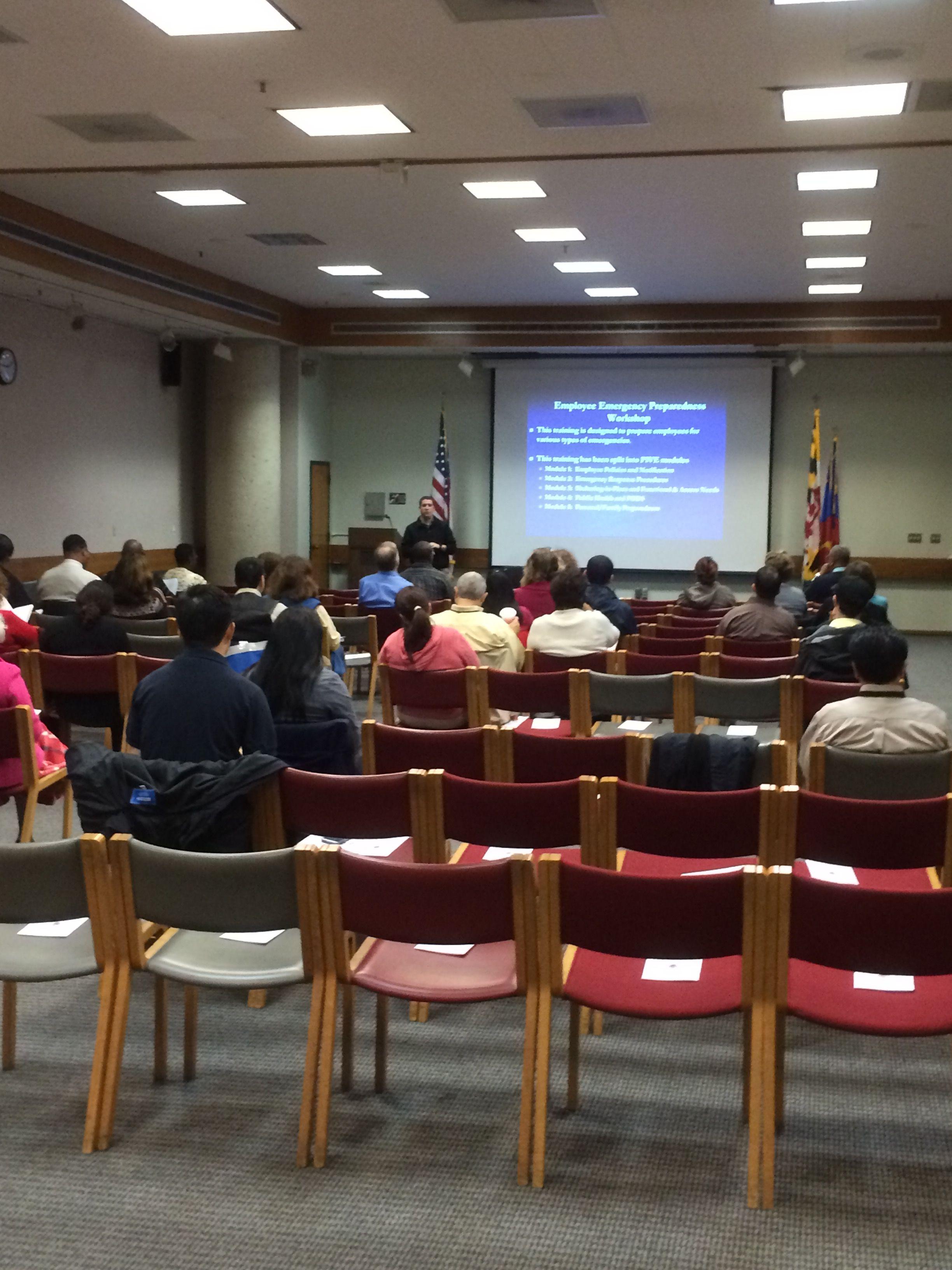 Co presenting emergency preparedness class for MoCo