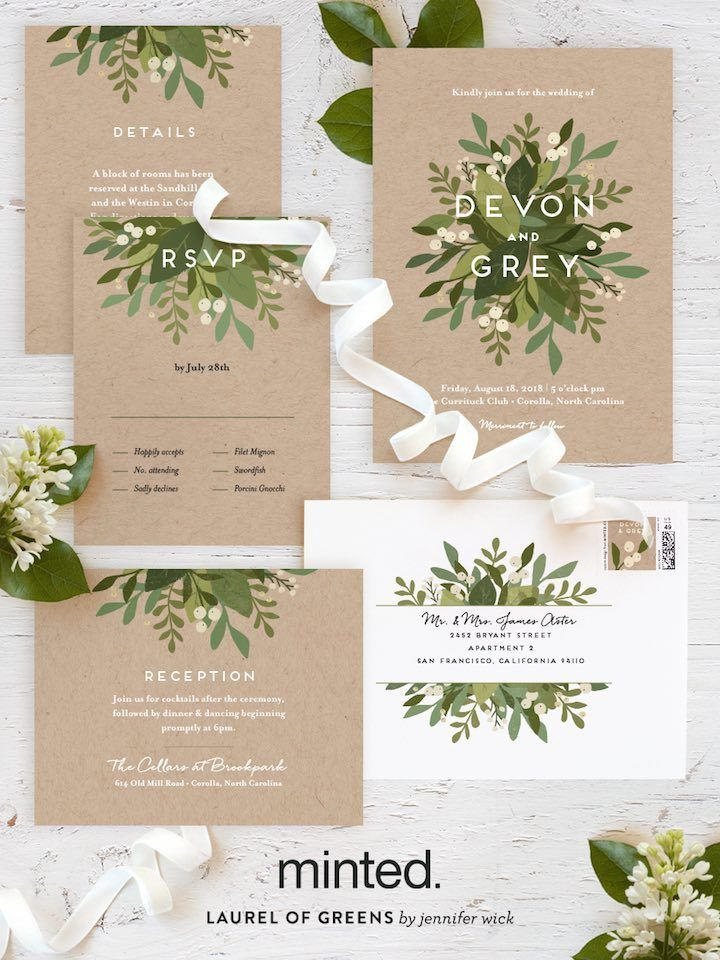 Minted Free Wedding Websites with Matching Invitations