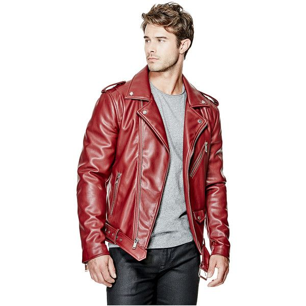 Guess Warren Faux Leather Moto Jacket 148 Liked On Polyvore