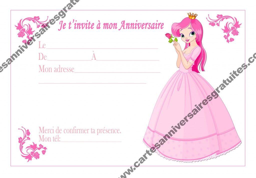 Poupée Barbie Filles Fête D/'Anniversaire Invitations invite enfants rose