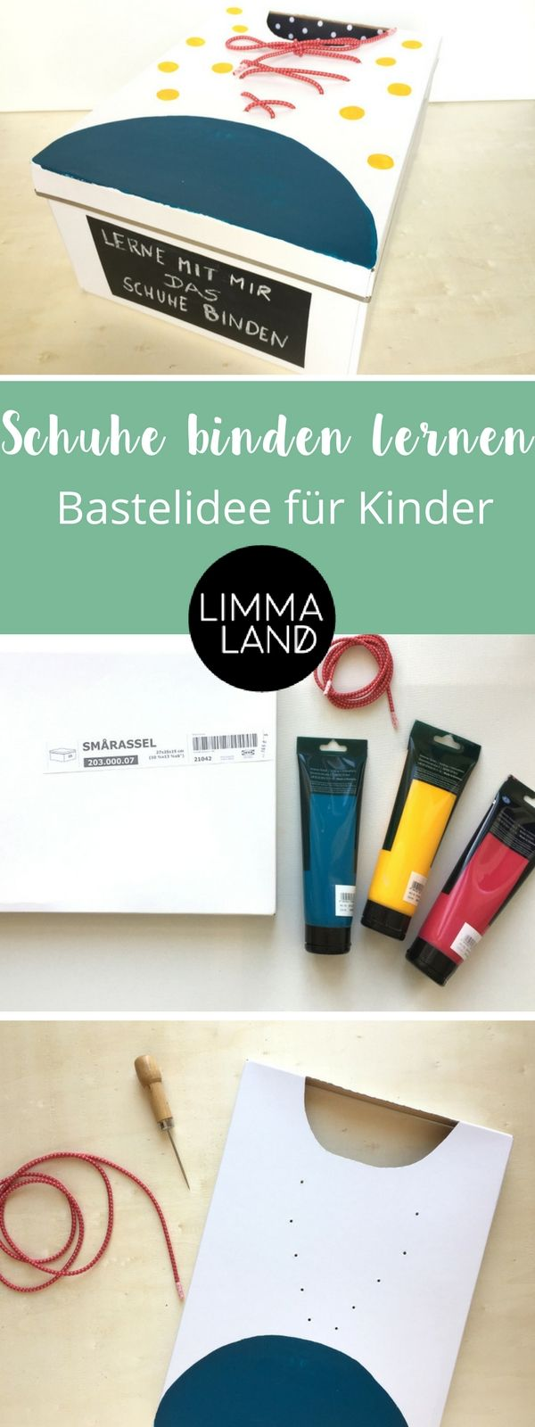 schn rsenkel binden lernen eine ikea hack anleitung f r kinder diy freebies limmaland. Black Bedroom Furniture Sets. Home Design Ideas