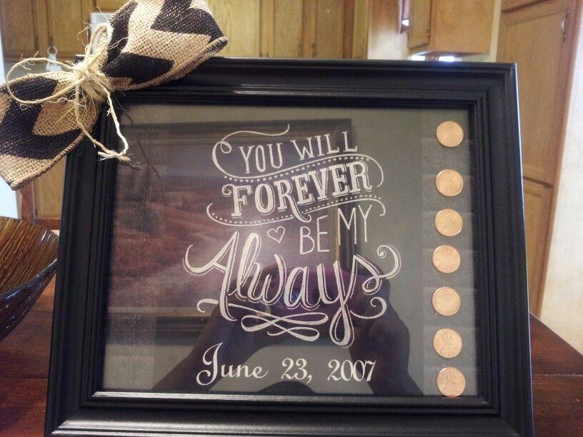 Seventh Wedding Anniversary Idea 7th Anniversary Copper