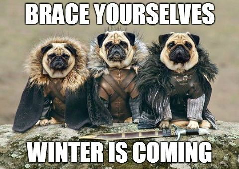 Brace yourselves...Winter is coming #GameofThrones ...