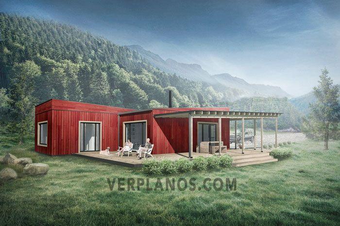 Vista 3d Plano De Casa 3 Casa Container Planos De