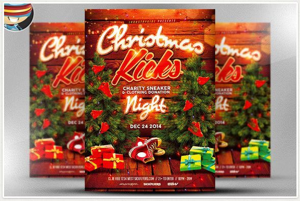 Christmas Kick Flyer Template Looking For Gorgeous As Well As