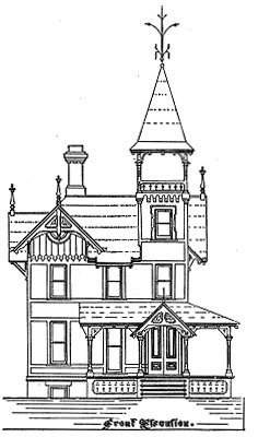 The cottage house plan featured is designed to occupy a