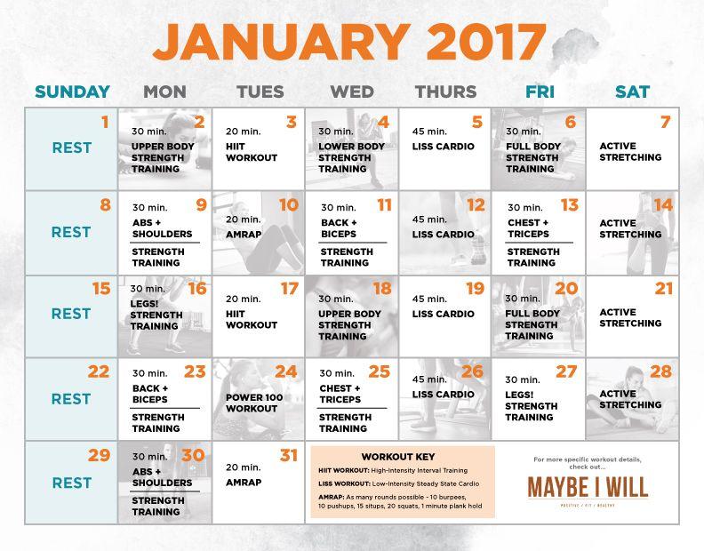 30 Day Workout Schedule Workout schedule, Workout calendar and - workout calendar