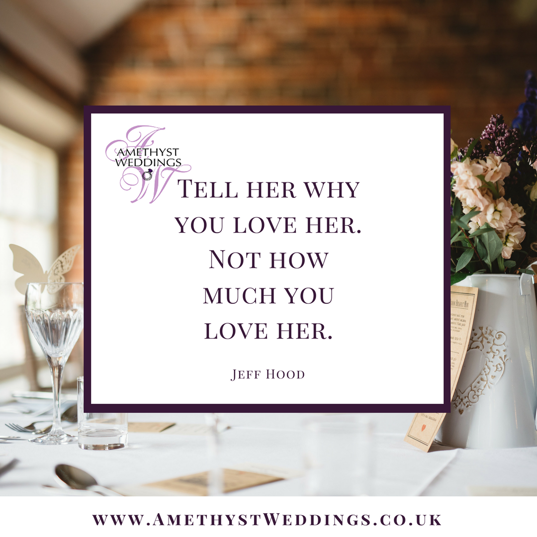 Tell her why you love not how much you love her Jeff Hood lovequotes