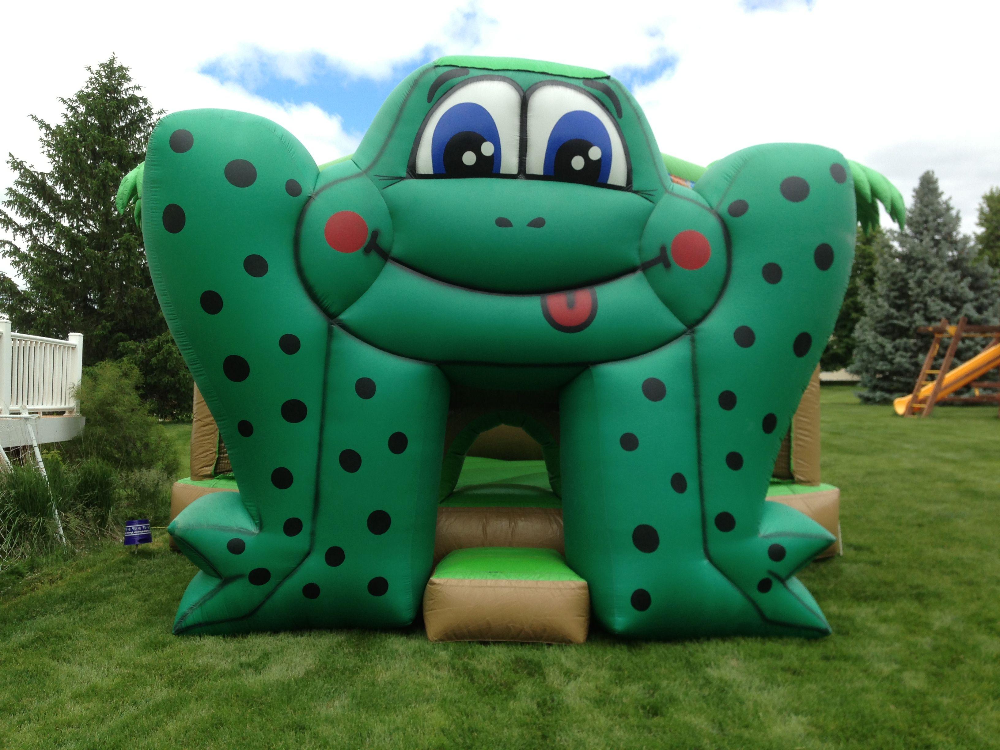 frog bounce house backyard birthday parties pinterest
