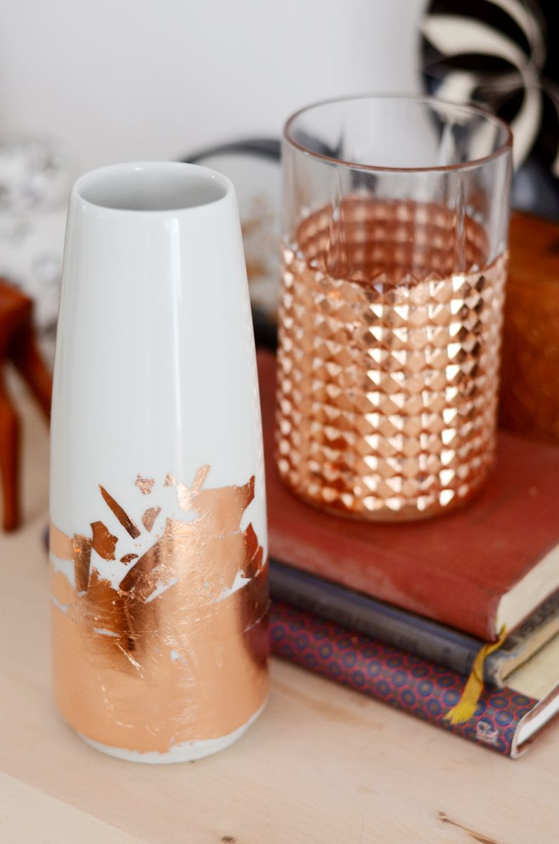No Heavy Metal Vasen Im Kupfer Look Kupfer Vase Und Diy Dekoration