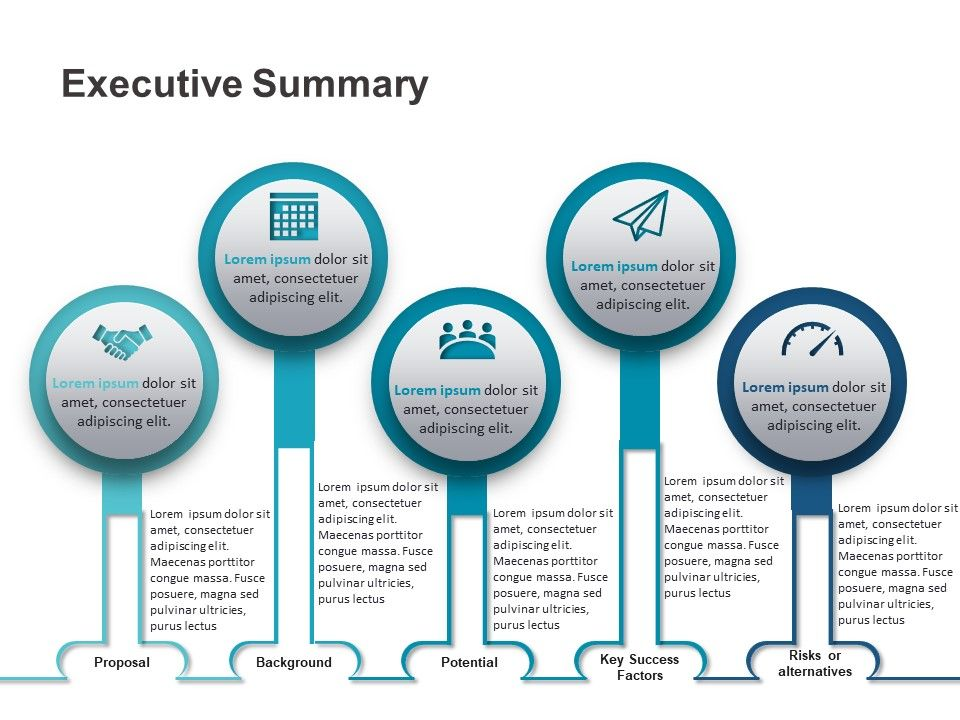 Executive Summary Powerpoint Template 1 Powerpoint