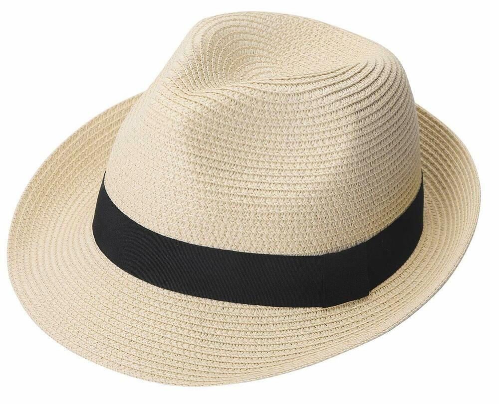 ZOORON Womens Floppy Summer Sun Beach Straw Hat Foldable Wide Brim Hats with Bowknot UPF50