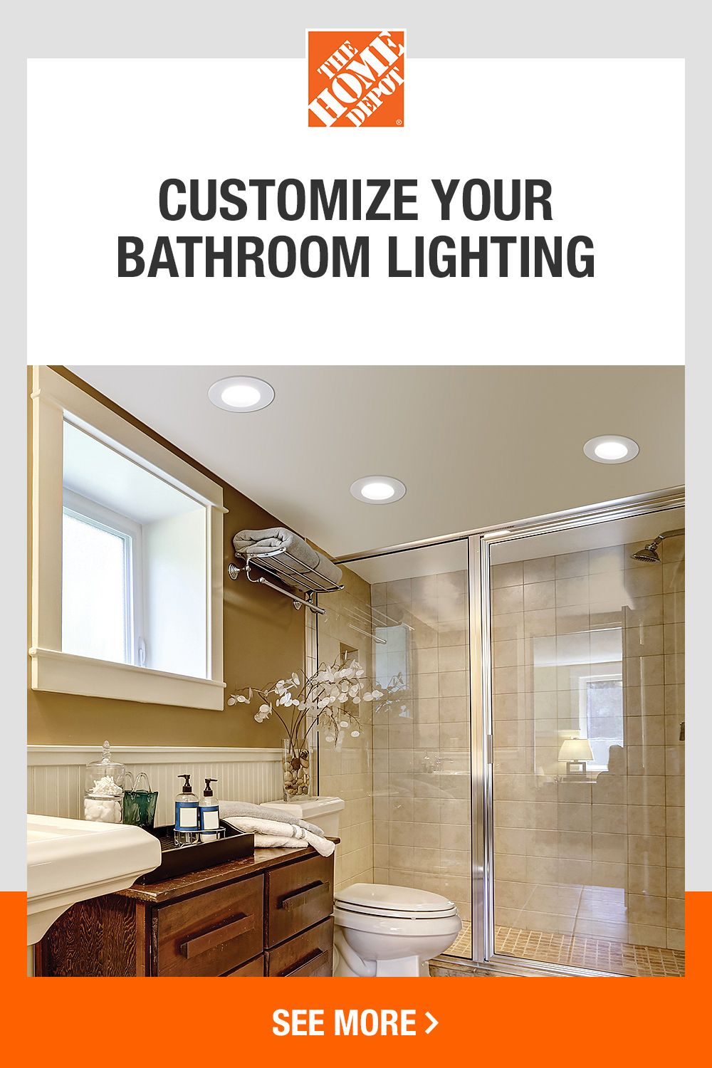 Customize Your Home With Recessed Lighting Options From The Home Depot Explore Recessed Light In 2020 Bathroom Lighting Trends Recessed Lighting Small Master Bathroom