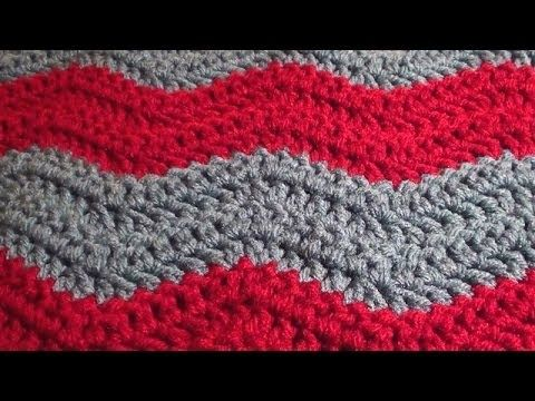 Crochet Chevron Ripple Zig Zag Wave Blanket Pattern Youtube