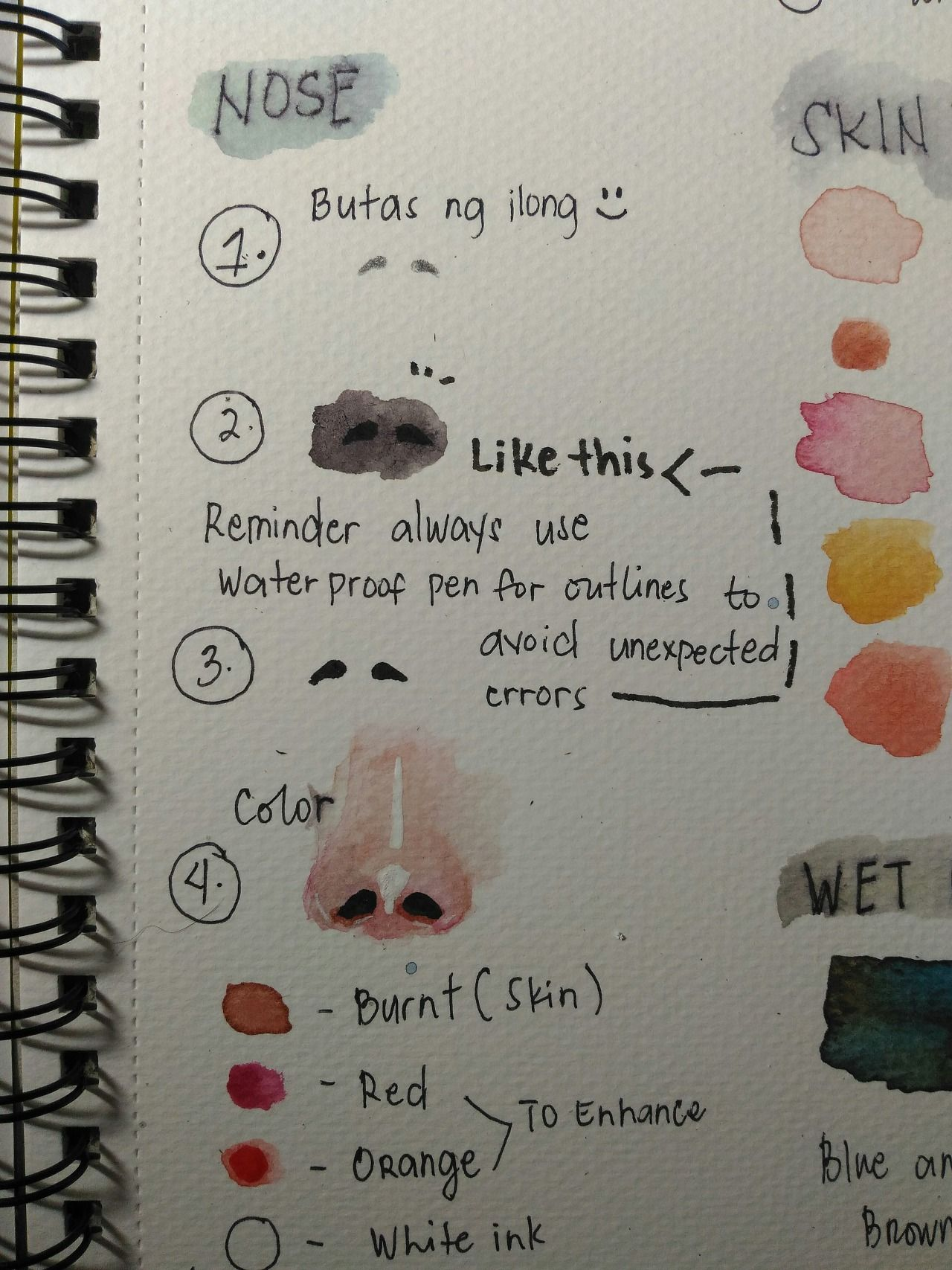 You Can Do It Lovenahhan Watercolor Tutorial Eyes Nose