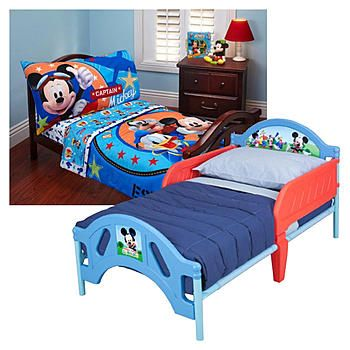 Elegant Disneyu0027s Mickey Mouse Toddler Bed U0026 Bedding Set Bundle