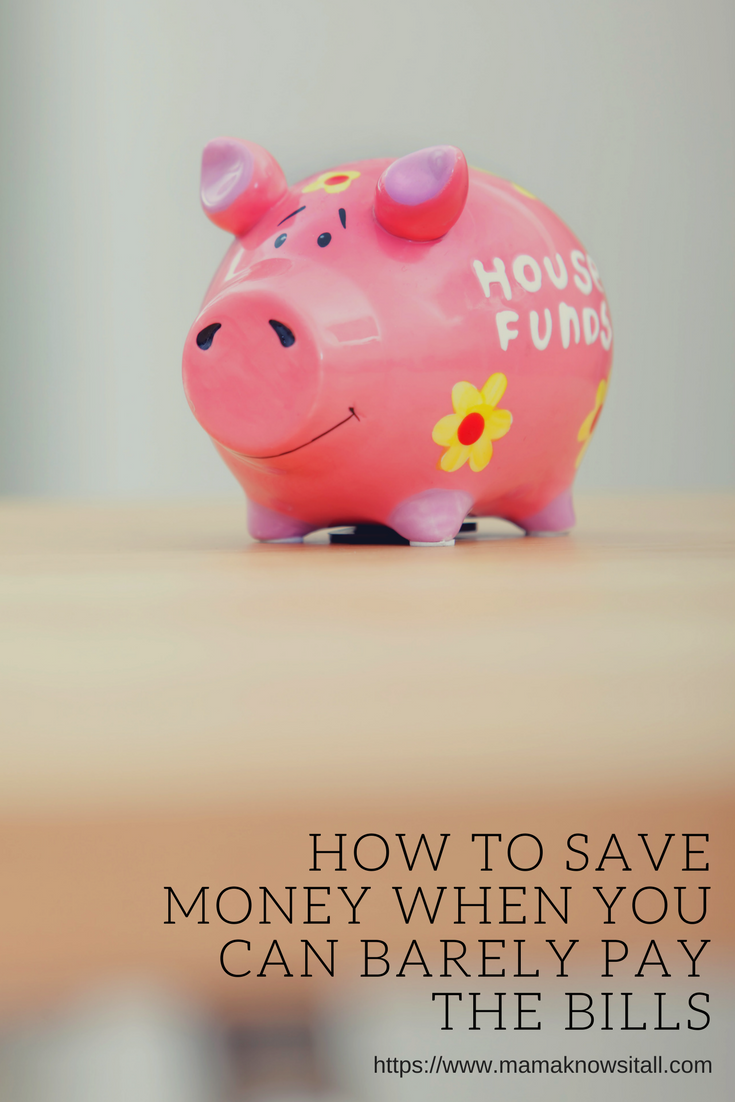 How To Save Money When You Can Barely Afford To Pay Bills Family Finances Saving Money Financial Planning Money